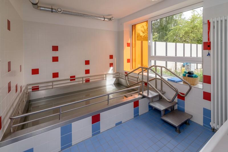Unser Badebecken für Kneipp-Anwendungen.